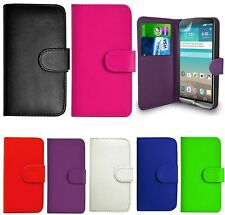 Book Wallet Flip Leather Case Card Cover For Vodafone Mobile Phones