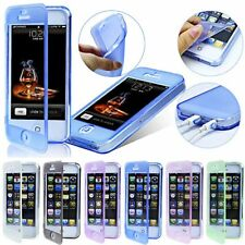 FLIP SOFT Crystal Silicone CASE COVER FOR iPHONE 5 5s +SCREEN PROTECTO
