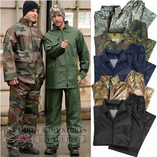 Waterproof Rainsuit Set Hooded Jacket Trouser Set Suit Fishing Camping Army Mens