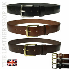 40mm Mens New Best High Quality 100% Real Leather Jean Belt Handmade In England