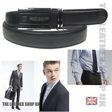 New Mens Real Leather Casual Formal Dress Wear Ratchet Belt Adjustable Buckle 4A
