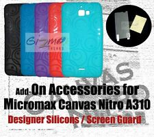 Designer Soft Silicon Back Case Cover Micromax Canvas Nitro A311 / Screen Guard