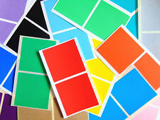 51mm Square (2 Inch) Colour Code Stickers Coloured Sticky Labels - 32 Colours