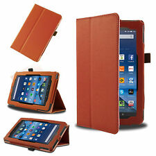 Orange Smart Leather Case Cover for 2015 Amazon Kindle Fire 7'' HD 8'' 10.1''