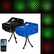 Wireless Remote Control Laser Projector Stage Light Mini LED R&G Lighting Party