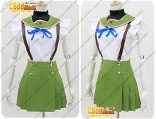 School-Live! Miki Naoki cosplay costume green Japanese uniform