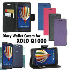 Diary Wallet Style Folio Flip Flap Cover Case For Xolo Q1000