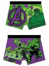Boys Official Marvel Comics Hulk Character Boxer Trunks