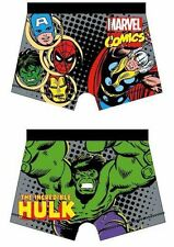 Boys kids Official Marvel Comics Avengers Character Boxer Trunks age 4-10
