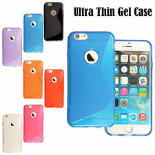 TPU Silicon gel Case for Apple iPhone 6 6S 6 Plus Cover S Line Screen Protector