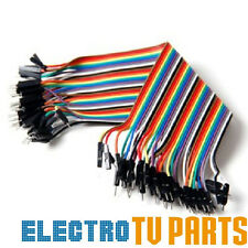 Dupont 10, 20, 40pcs Male to Male 20cm Jumper Wire Ribbon Arduino Cable Pi