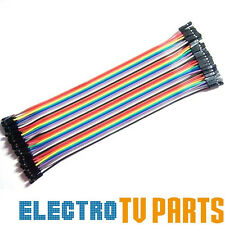 Dupont 10, 20, 40pcs Female to Female 20cm Jumper Wire Ribbon Arduino Cable Pi