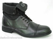KICKERS  MARSYMO chaussures boots homme cuir et toile noir Black taille 41