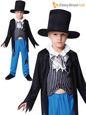 Boys Victorian Peasant Oliver Twist Dickens Kids Book Week Fancy Dress Costume