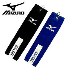 Mizuno Tri Fold Tour Towel With Carabiner - 2 Colours Available - New.