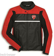 DUCATI DAINESE Company 2 Giacca in pelle giacca pelle giacca nero rosso NUOVO