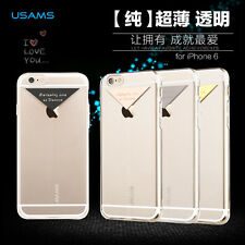 USAMS Dazzle Series Luxury Ultra Thin Soft Transparent For Apple Iphone 6/6S
