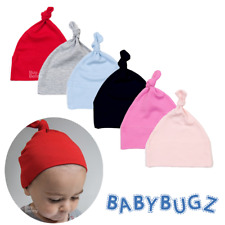 BABY ONE KNOT HAT SOFT CAP 100% COTTON LIGHTWEIGHT BOYS GIRLS COLOURS CUTE GIFT