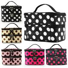 EO56 Hanging Toiletry Travel Organizer Case Cosmetic Makeup Dot Zip Bag Holder