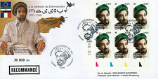 "Registered FDC FRANCE ""Tribute to Commandant MASSOUD, Afghanistan"" (Paris) 2003"