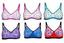 Pack of 6 and 3 Print Design Dailywear Undergarment Cotton Bra