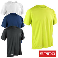 Spiro S253M Mens Quick Dry Short Sleeves Base Layer Quick Dry Soprts Wear TShirt