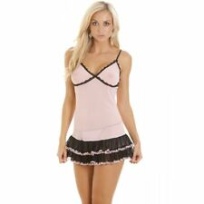Camille Womens Ladies Sexy Pink Lace Babydoll Chemise Nightwear Lingerie