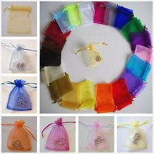 Organza Wedding Baby Shower Party Gift Bag Jewellery Pouches 7x9 9x12 11x16cm