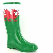 Welsh Wellies Wales Flag dragon Green Wellington boots sizes 4 to 8