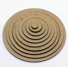 Circle Craft Shapes, Embellishments, Tags, Decorations, 2mm MDF Wood