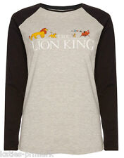 PRIMARK LADIES LONG SLEEVE T SHIRT TEE TOP DISNEY THE LION KING SIMBA NEW