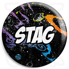 Stag - 25mm Space Wedding Button Badge with Fridge Magnet Option