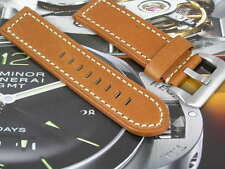 HANDMADE LEATHER WATCH STRAP FOR PANERAI PAM MARINA MILITARE RXW WATCHES 24mm