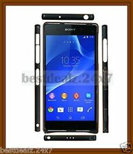 New Design Curved Two-Tone Side Lock Metal Bumper for Sony Xperia Z2 Z 2