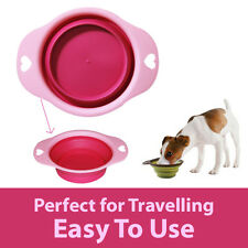 Pet Feeding Bowl Dog Cat Food Water Collapsible Portable Travelling Feeder