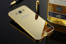 Glaze Metal Bumper Frame With Mirror Back Case For Samsung Galaxy Grand i9082