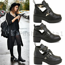 LADIES WOMENS PLATFORM LOW MID HIGH BLOCK HEEL CHELSEA ANKLE BOOTS SHOES SIZE