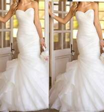 Bridal Gown  Organza CUSTOM Elegant Mermaid Wedding Dress FREE Bridal Gown