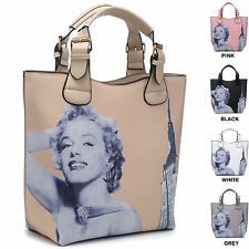 Ladies Marilyn Monroe Handbag Bucket Bag New York Shoulder Bag Tote Bag M3189-2