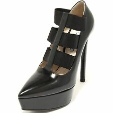 2519G decollete nero PRADA VITELLO SPAZZOLATO scarpa donna shoes women