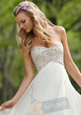 White/Ivory Chiffon Long Wedding Dress Evening Prom Dresses Formal Dress Gowns