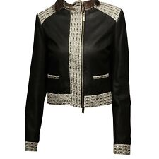 giubbotto pelle BLUMARINE OUTLET giacca giaccone donna jacket women 52999