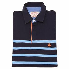 9109F polo blu celeste  BROOKS BROTHERS MANICA LUNGA maglia uomo t-shirt men