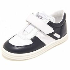 3614I sneakers bimbo blu HOGAN REBEL r 141 basso velcro scarpe shoes kids