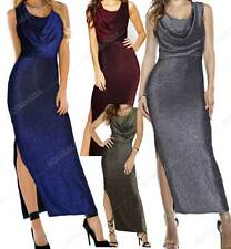 Women Evening Party Dresses Elegant Split Bodycon Sequin Pencil Dress