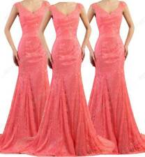 NEW Long Evening Dress Mermaid Lace Backless Women Formal Dresses Party