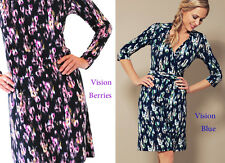 N & Willow Collar Wrap Date Dress - Choice of Vison Blue or Vision Berries - Mad