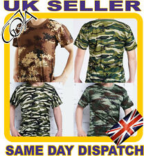 MENS MILITARY HUNTING GAME FISHING CAMOUFLAGE CAMO T SHIRT ARMY COMBAT NEW