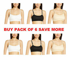 BUY PACK of 6,SAVE MORE Girls CROP top Bra Non-Wired Womens Sports Bra-Free Size
