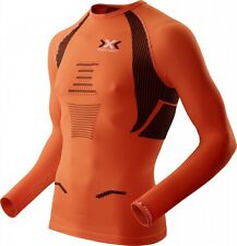 X-BIONIC RUNNING THE TRICK SHIRT Long MAN Orange-Sunshine Black